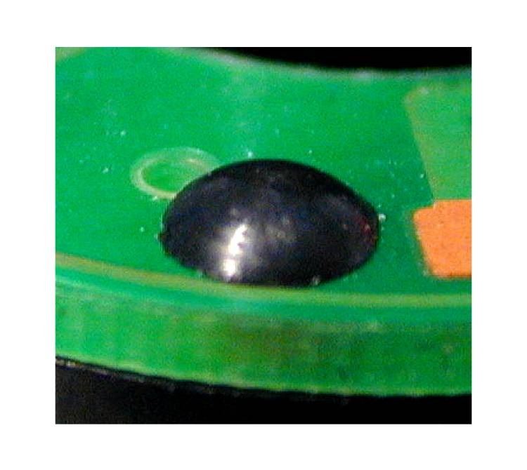 Fixierung einer Leiterplatte auf einem Kunststoffkörper